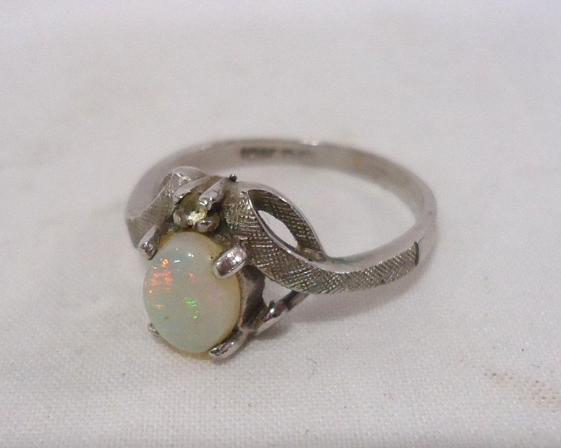 10k Opal Ring & 14k White Topaz Ring - 2