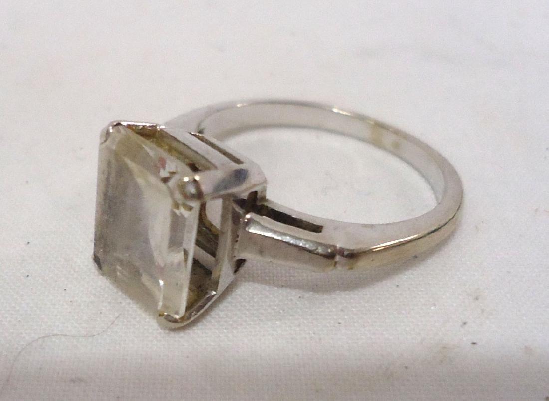 10k Opal Ring & 14k White Topaz Ring - 3
