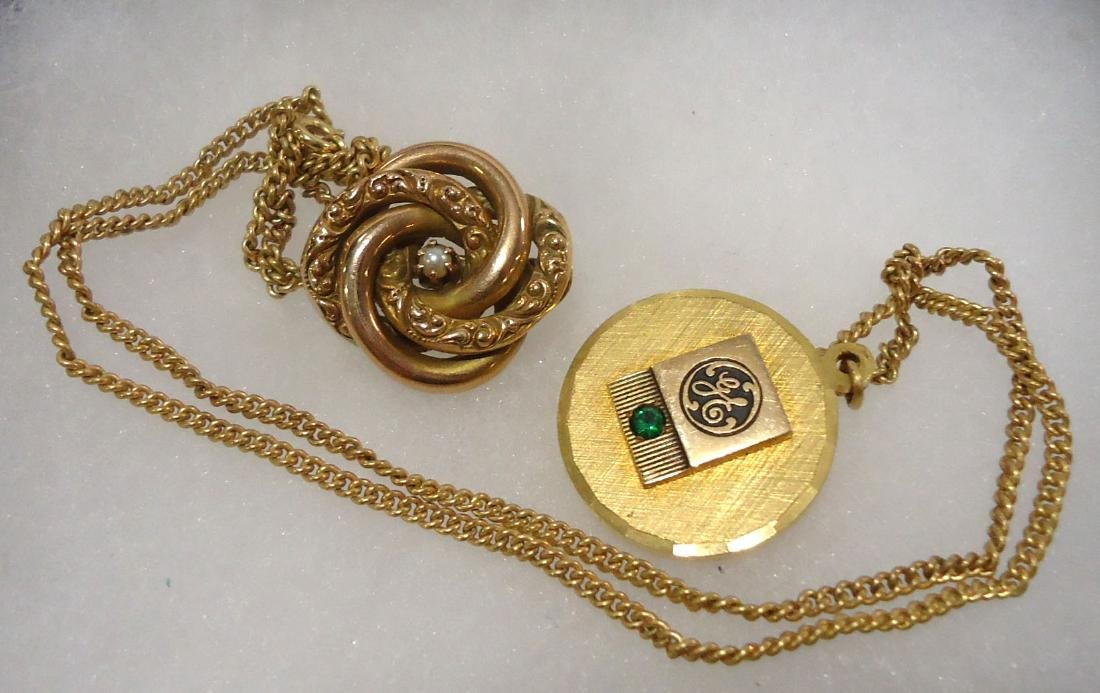 10k Pendant, Ring, & Pin + G.F. Pin & Necklace - 2