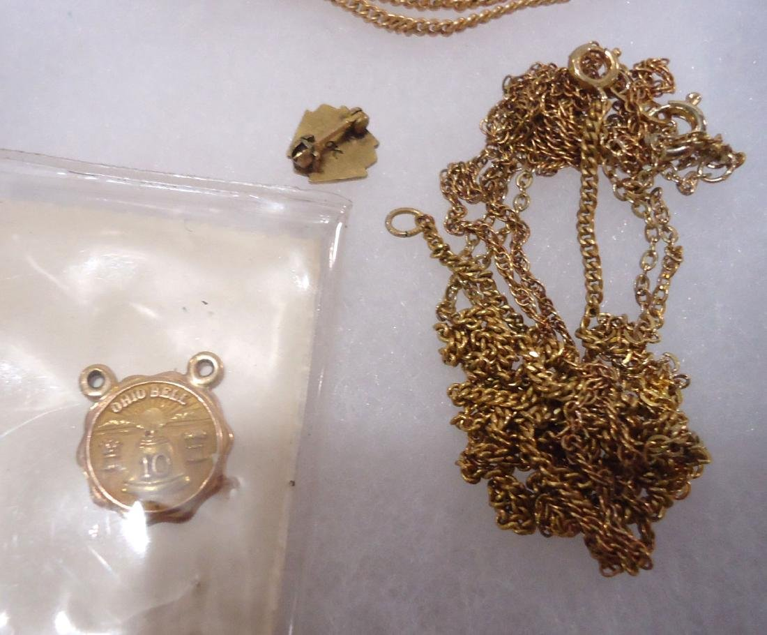 10k Pendant, Ring, & Pin + G.F. Pin & Necklace - 4