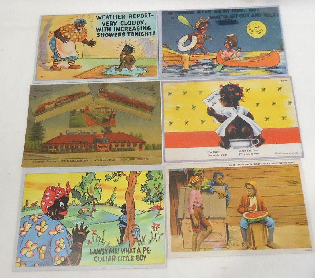 6 Modern Black Americana Post Cards