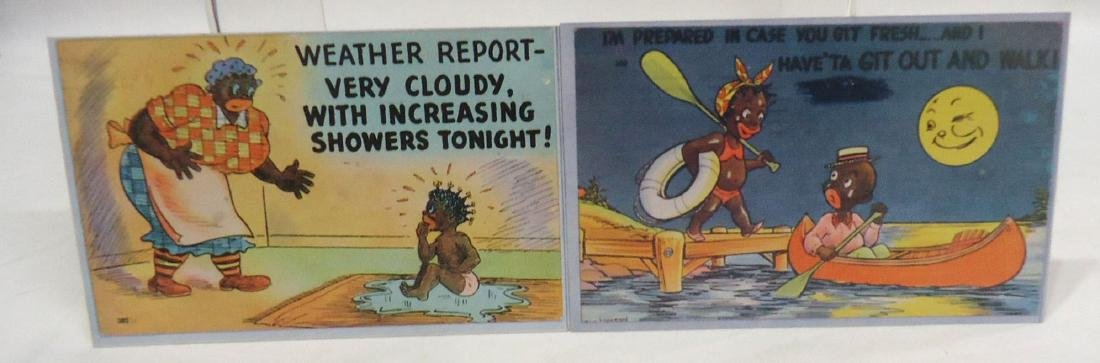 6 Modern Black Americana Post Cards - 4