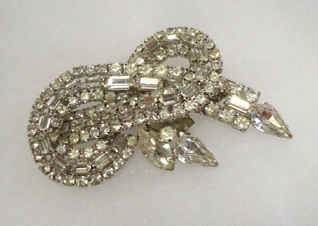 Rhinestone Brooch & Earrings - 2