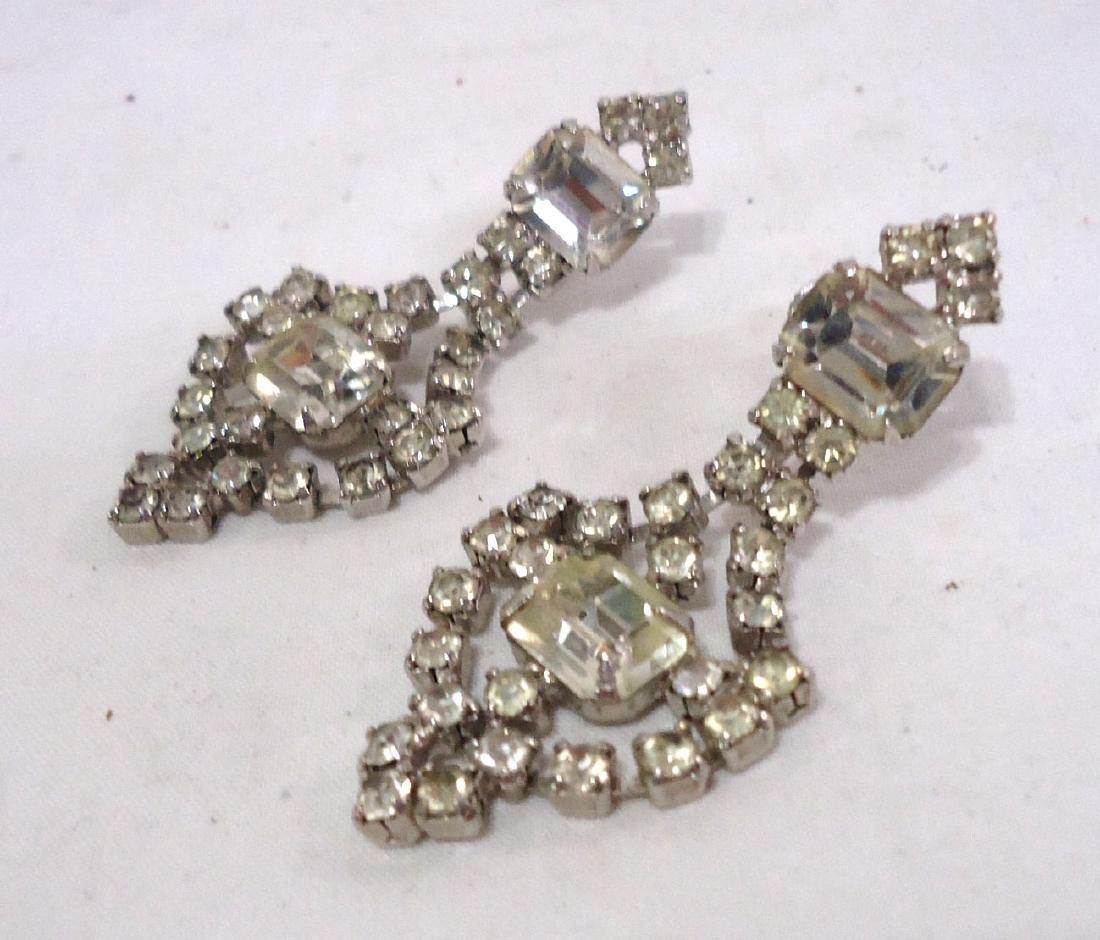Rhinestone Brooch & Earrings - 3