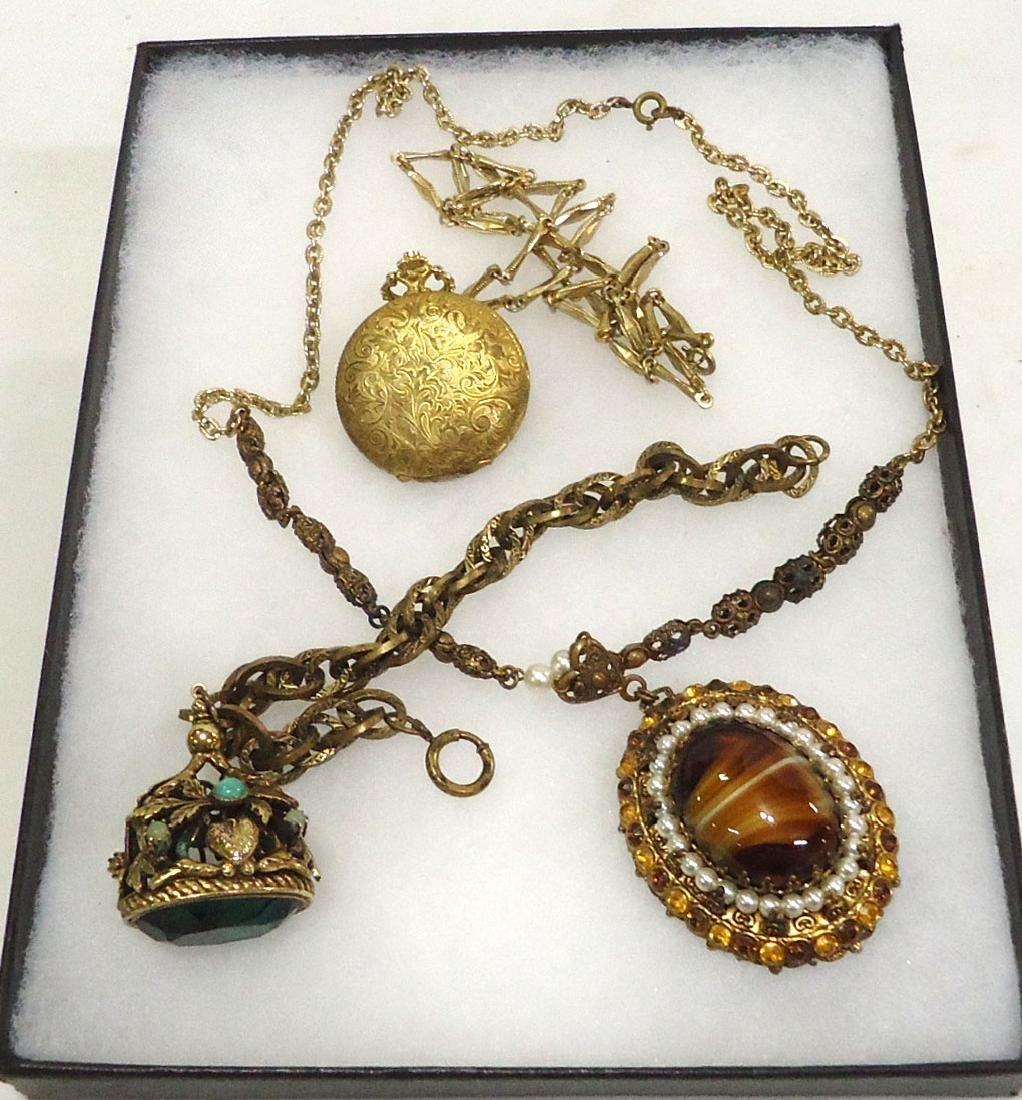 Pocket watch, Necklace & Bracelet