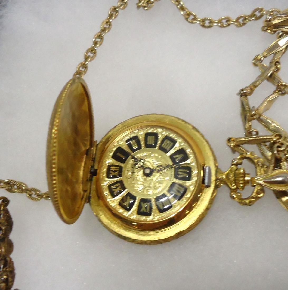 Pocket watch, Necklace & Bracelet - 2