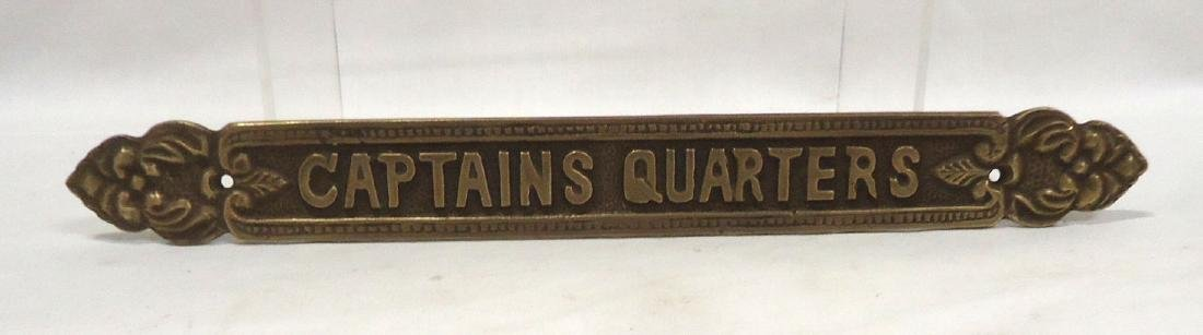Brass Captain's Quarters Sign