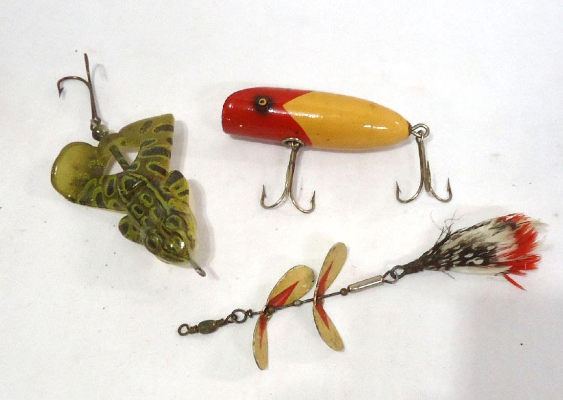 3 Fishing Lures 1 is Wooden