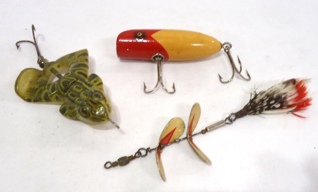 3 Fishing Lures 1 is Wooden - 2