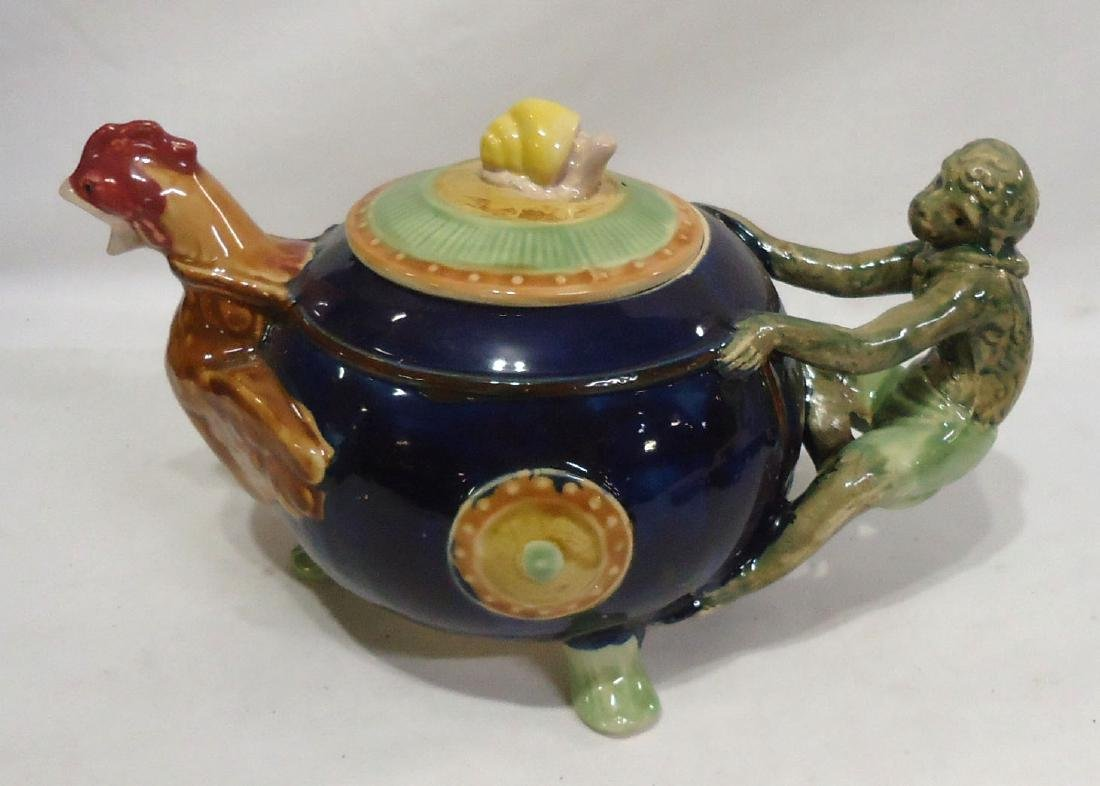 Modern Majolica Tea Pot