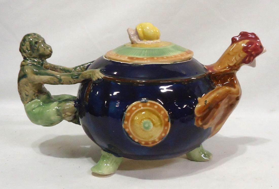 Modern Majolica Tea Pot - 2