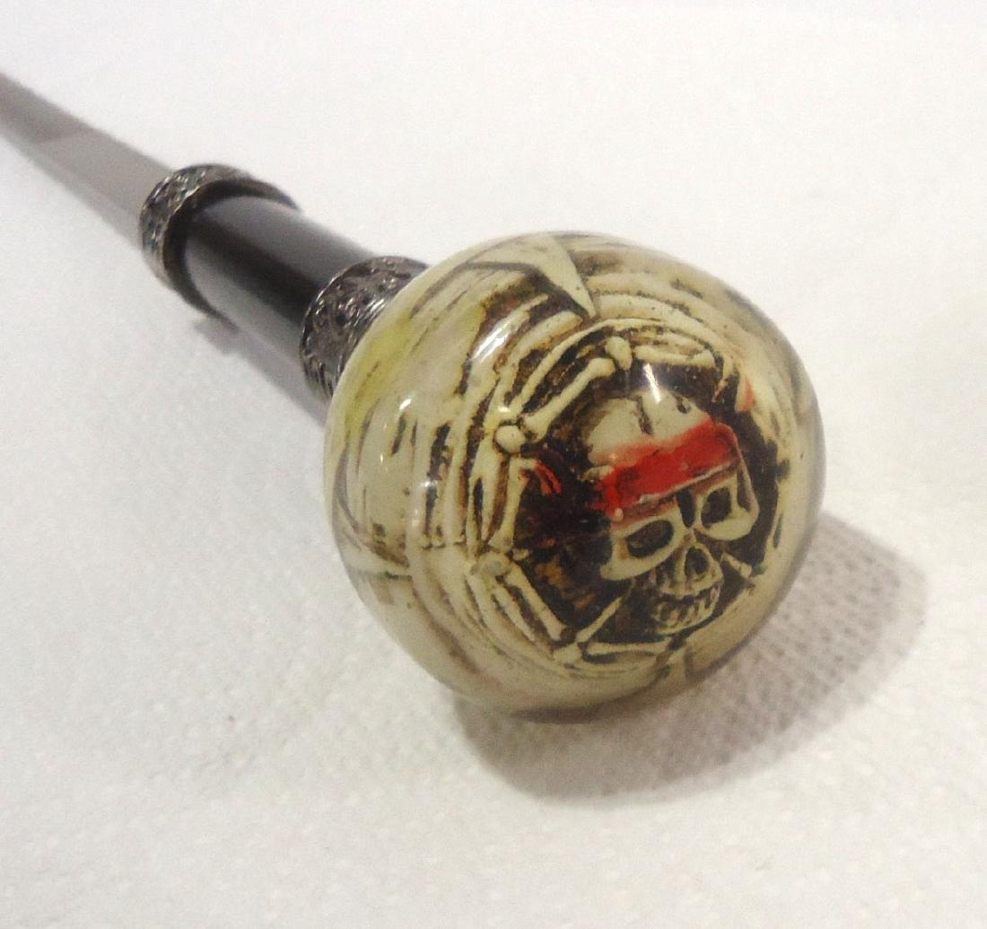 """35 1/2"""" Modern Pirate Skull Sword Cane - 2"""