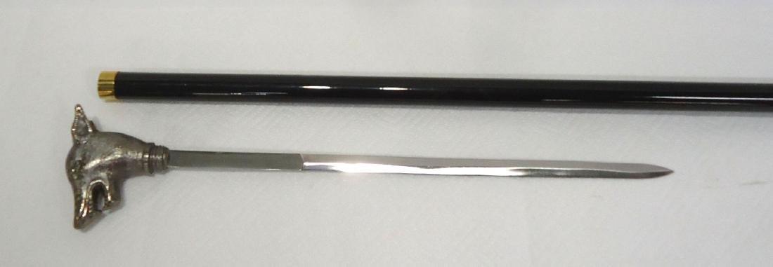 "34 1/2"" Modern Wolf Sword Cane"