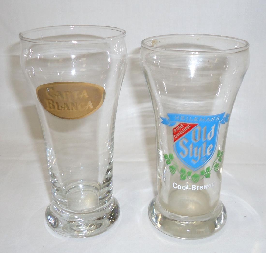 4 Vtg. Beer Glasses - 2