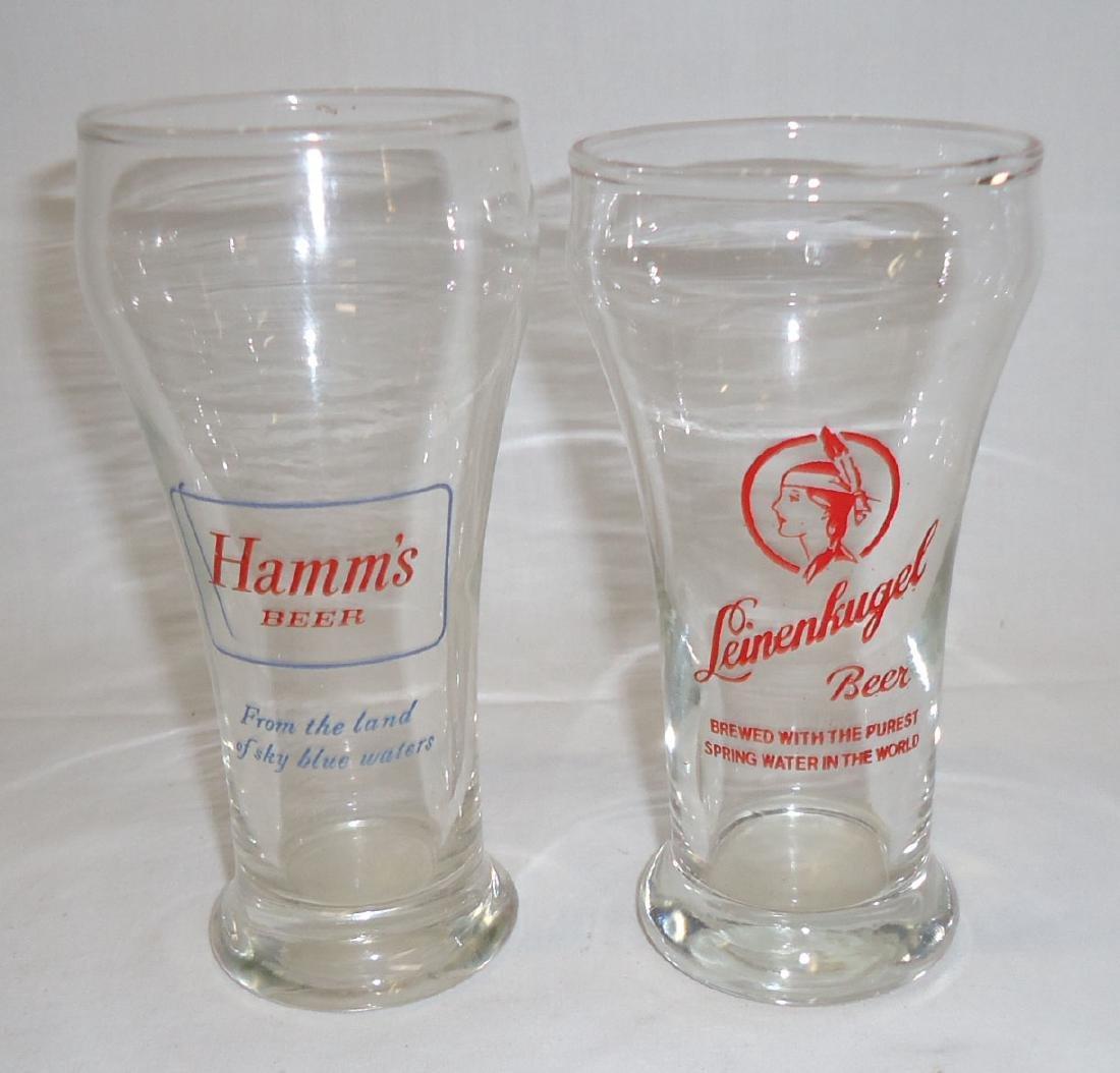 4 Vtg. Beer Glasses - 3