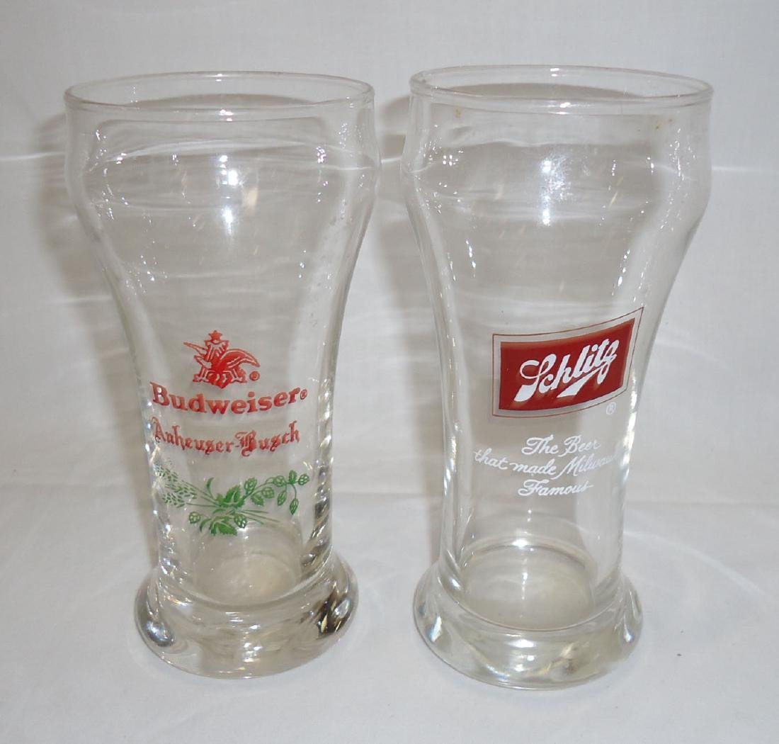 4 Vtg. Beer Glasses - 2
