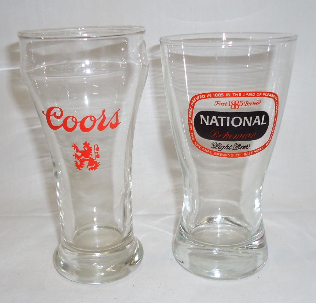 4 Vtg. Beer Glasses - 3