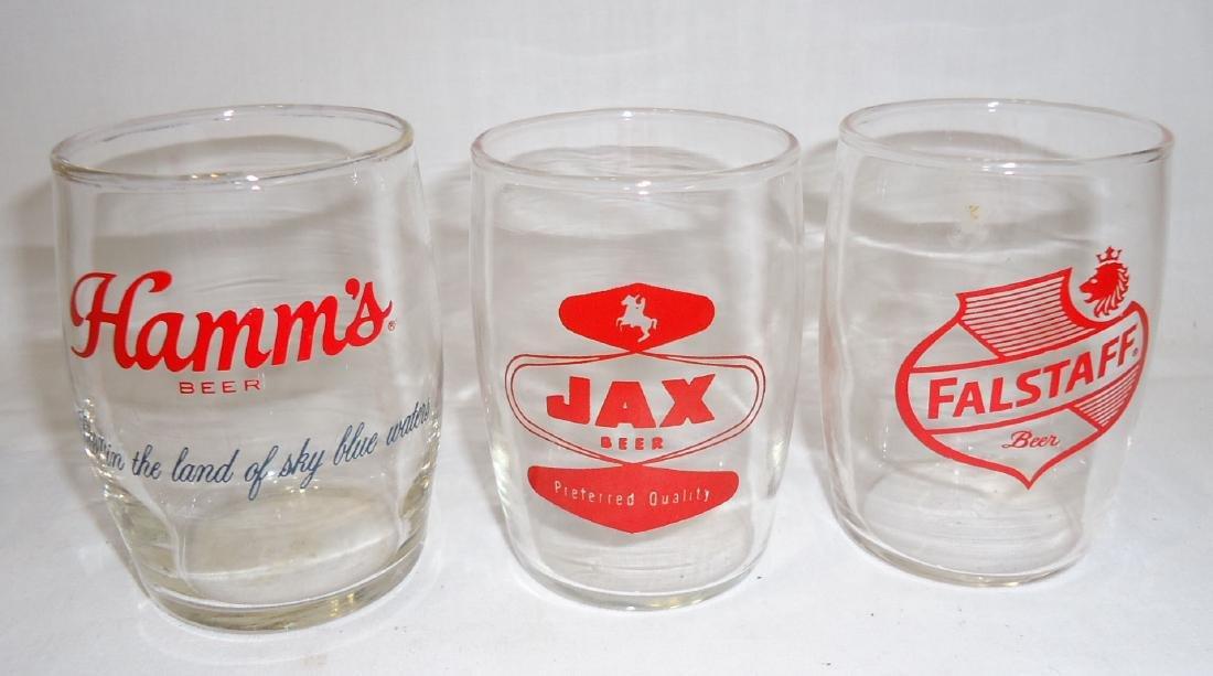 7 Vtg. Beer Glasses - 4