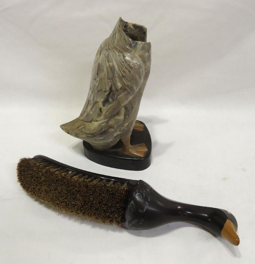 Vtg. Duck Brush & Holder - 3