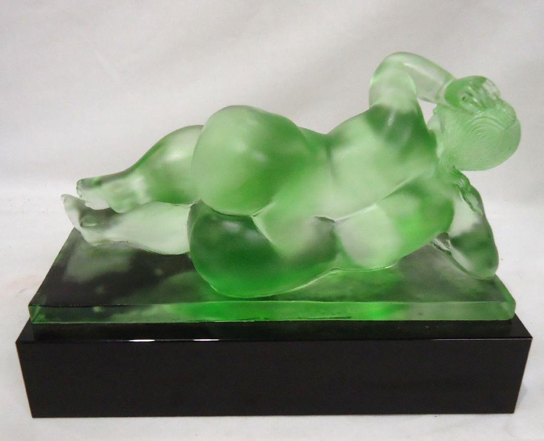Green Glass Nude Sgnd. Roubleff - 2