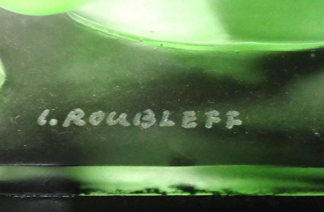 Green Glass Nude Sgnd. Roubleff - 3