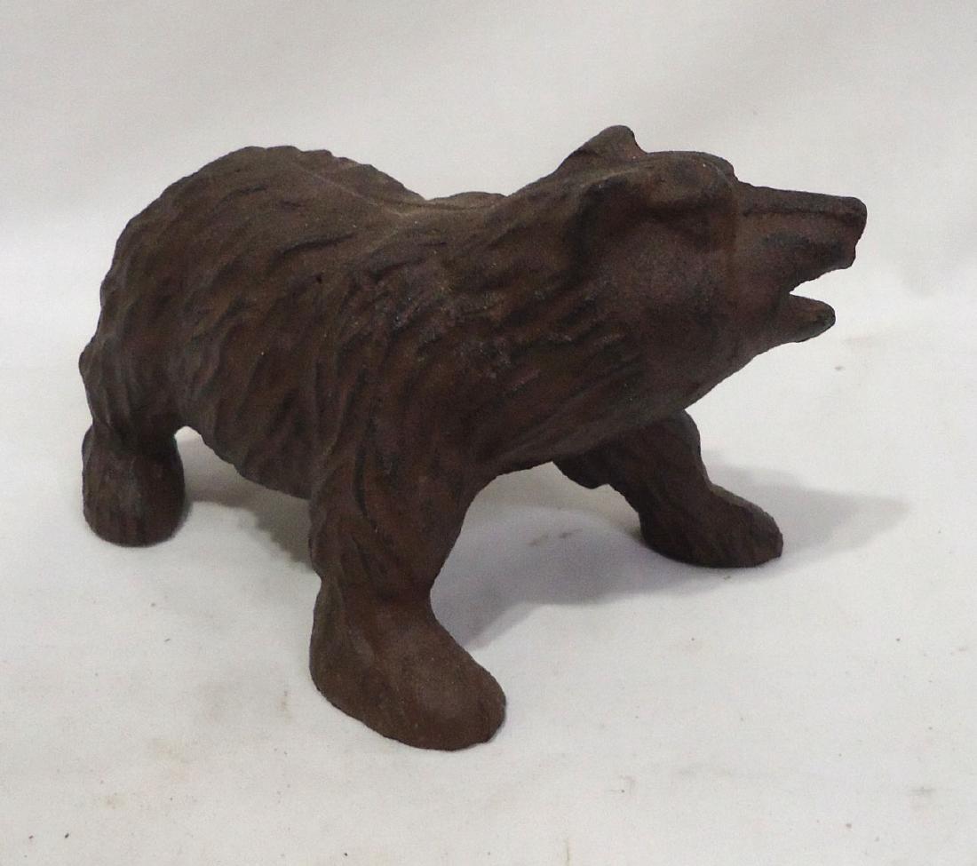 Cat Iron Bear Door Stop - 2