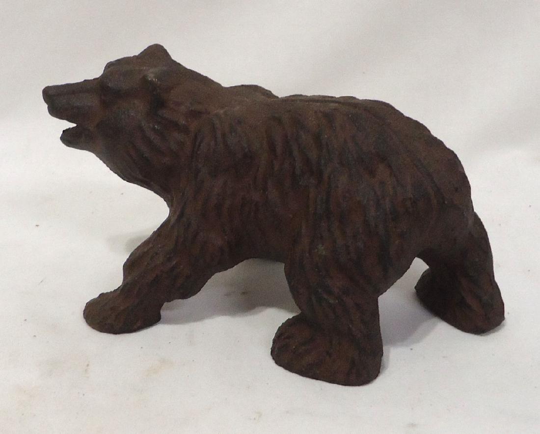 Cat Iron Bear Door Stop - 3