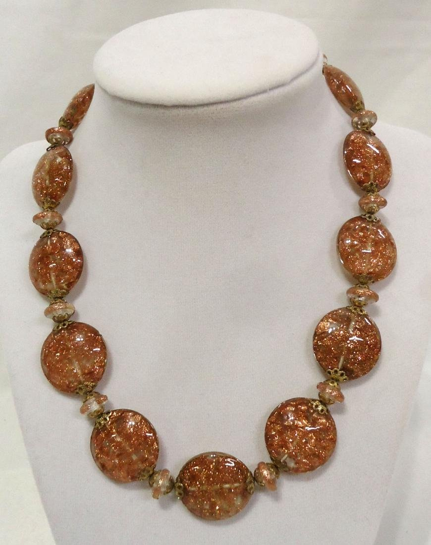 2 Lovely Venetian Glass Bead Necklaces - 2
