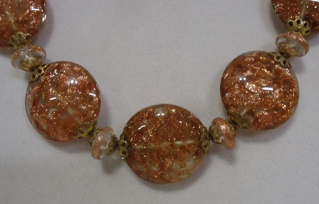 2 Lovely Venetian Glass Bead Necklaces - 3