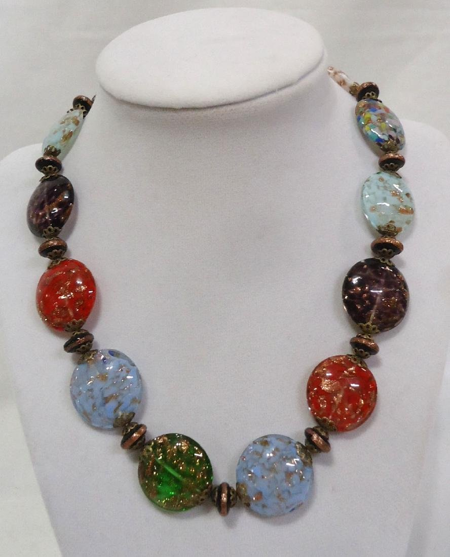 2 Lovely Venetian Glass Bead Necklaces - 4