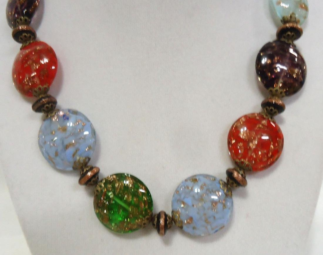 2 Lovely Venetian Glass Bead Necklaces - 5