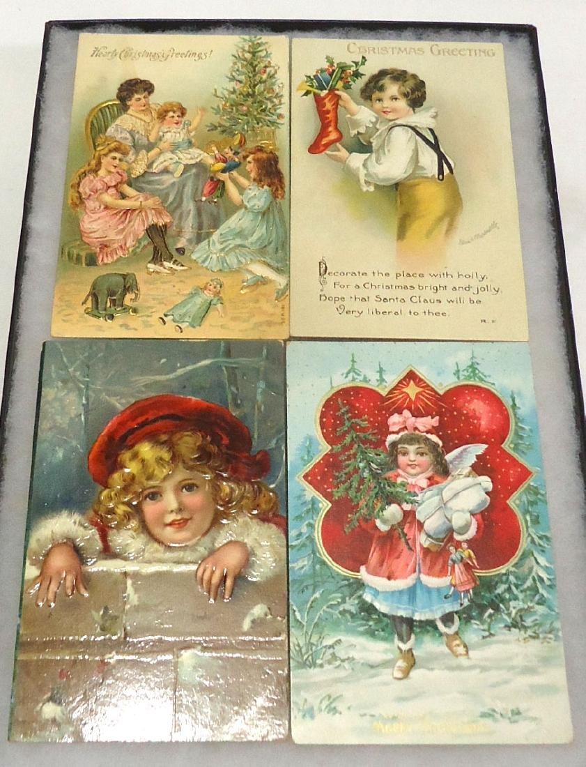 4 Santa Claus Christmas Postcards