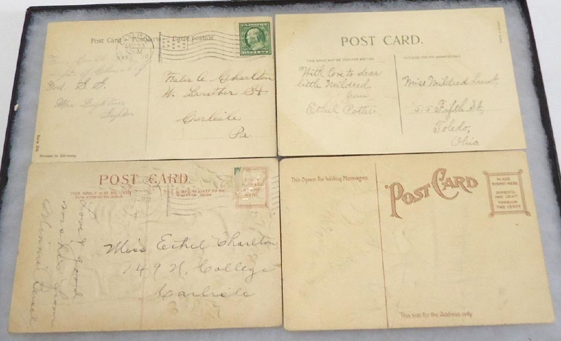 4 Santa Claus Christmas Postcards - 2