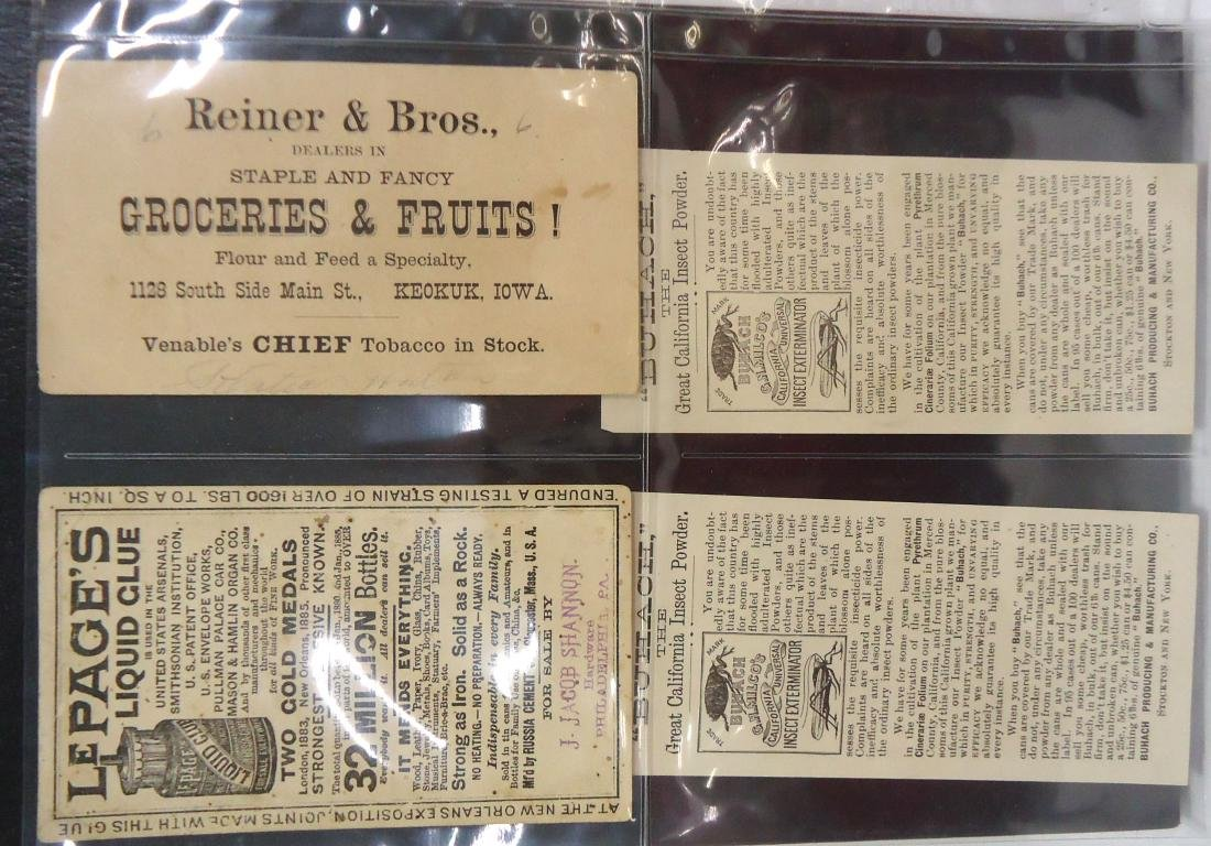 4 Victorian Trade Cards - 2