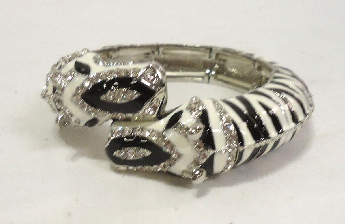 Rhinestone Zebra Bracelet