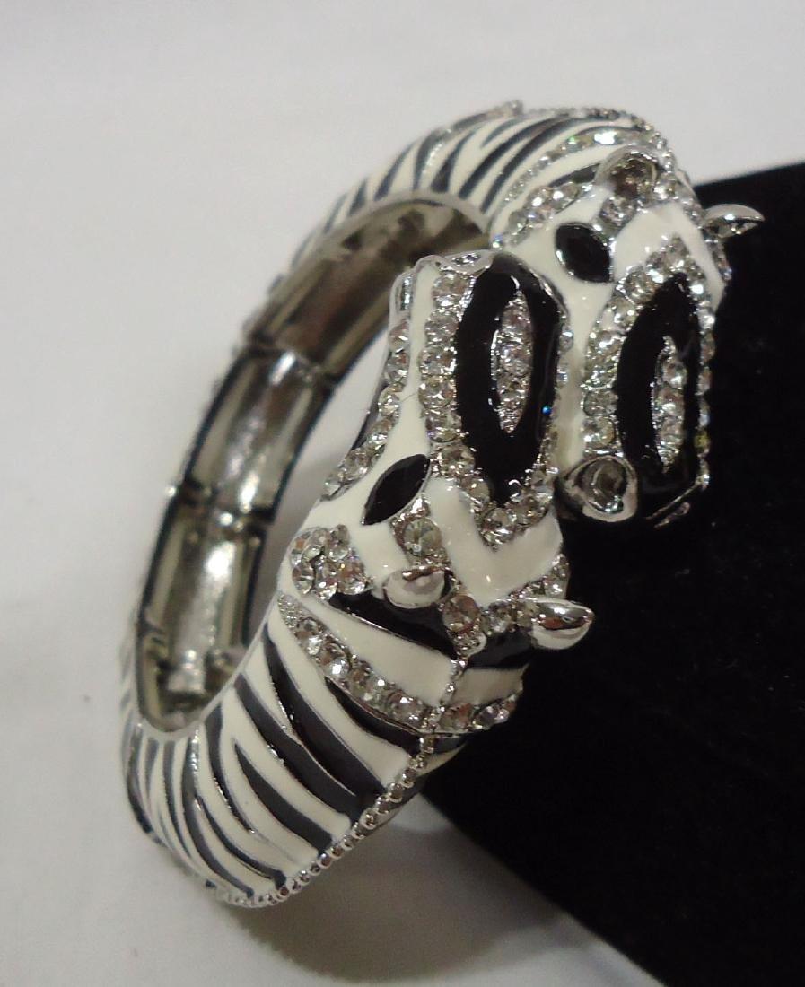 Rhinestone Zebra Bracelet - 2