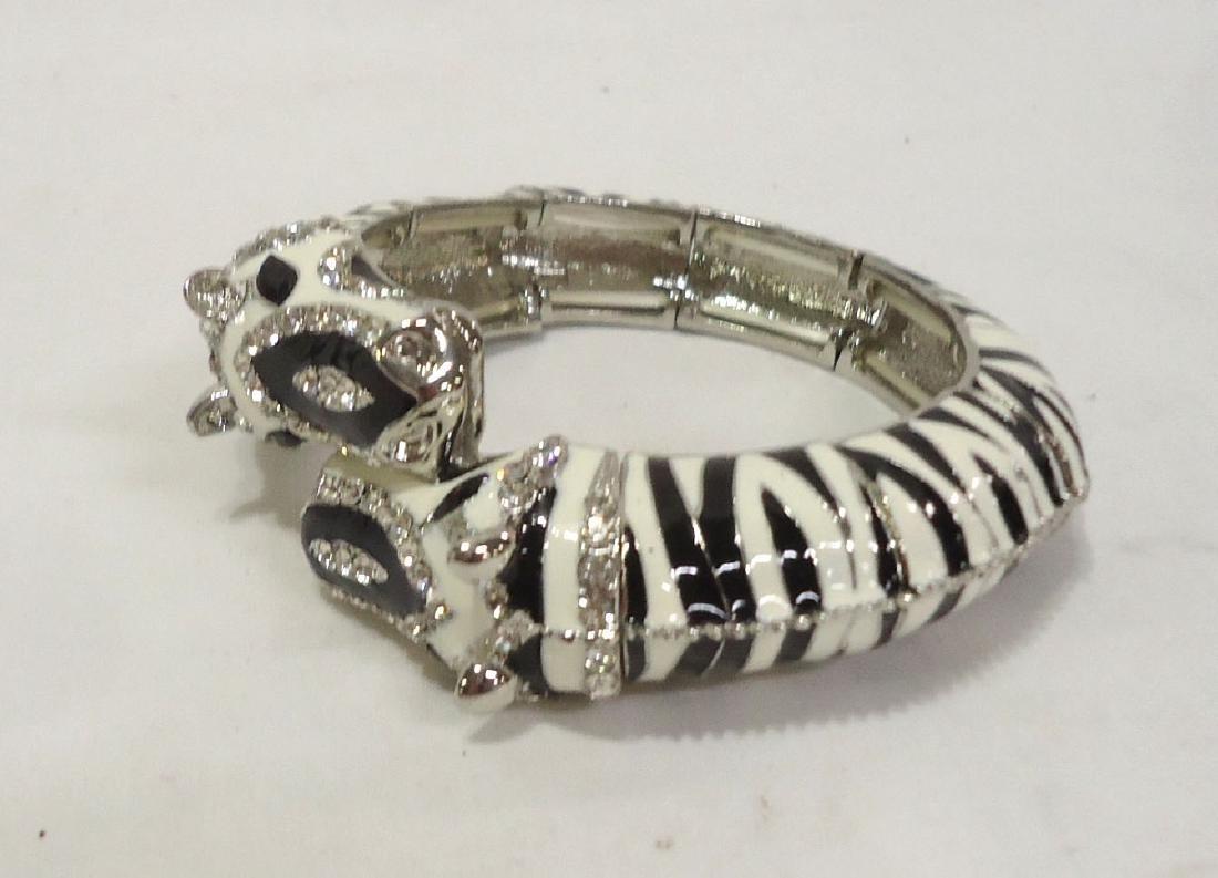 Rhinestone Zebra Bracelet - 3