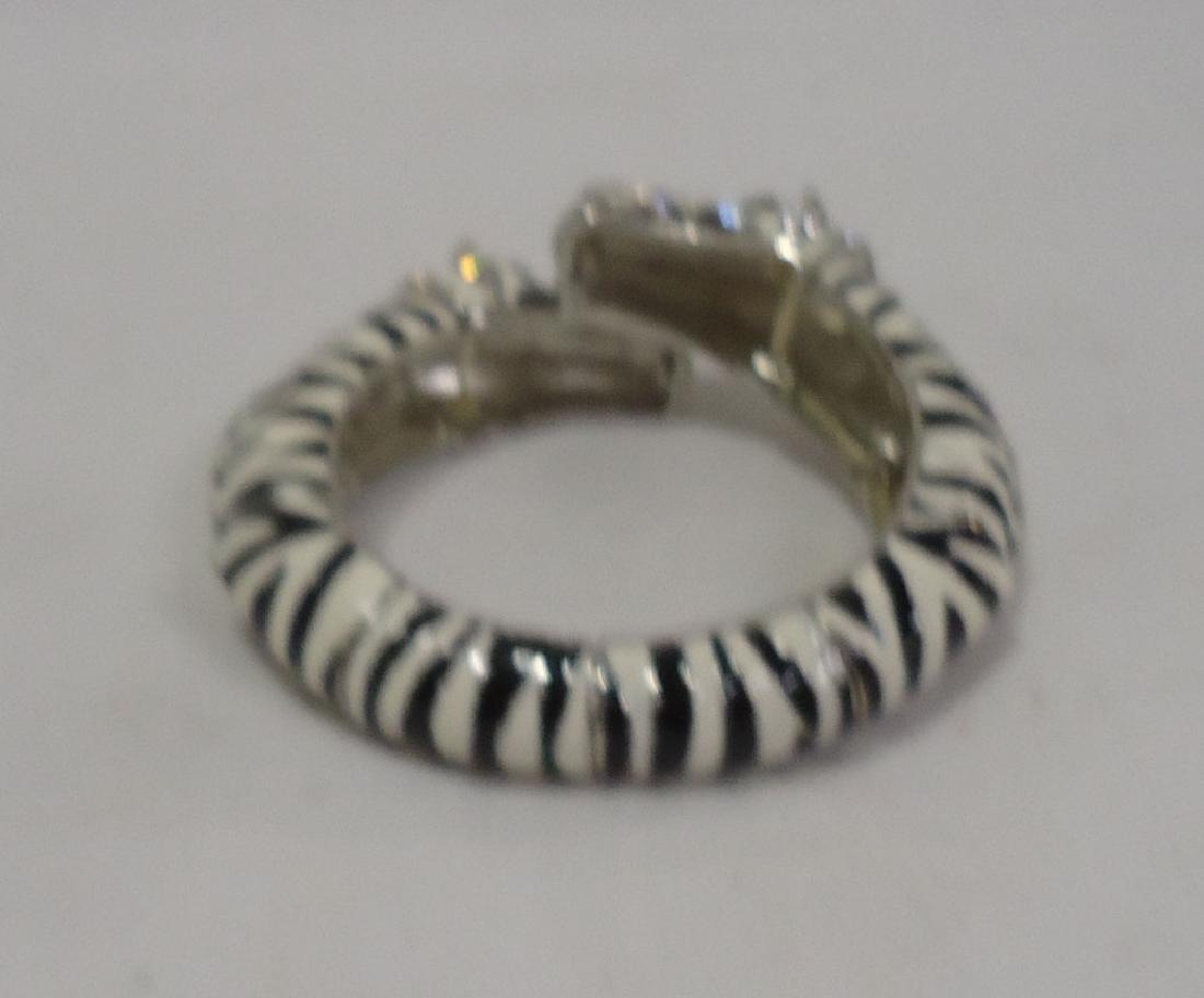 Rhinestone Zebra Bracelet - 4