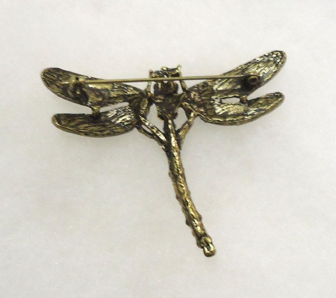 Costume Dragonfly Brooch - 2