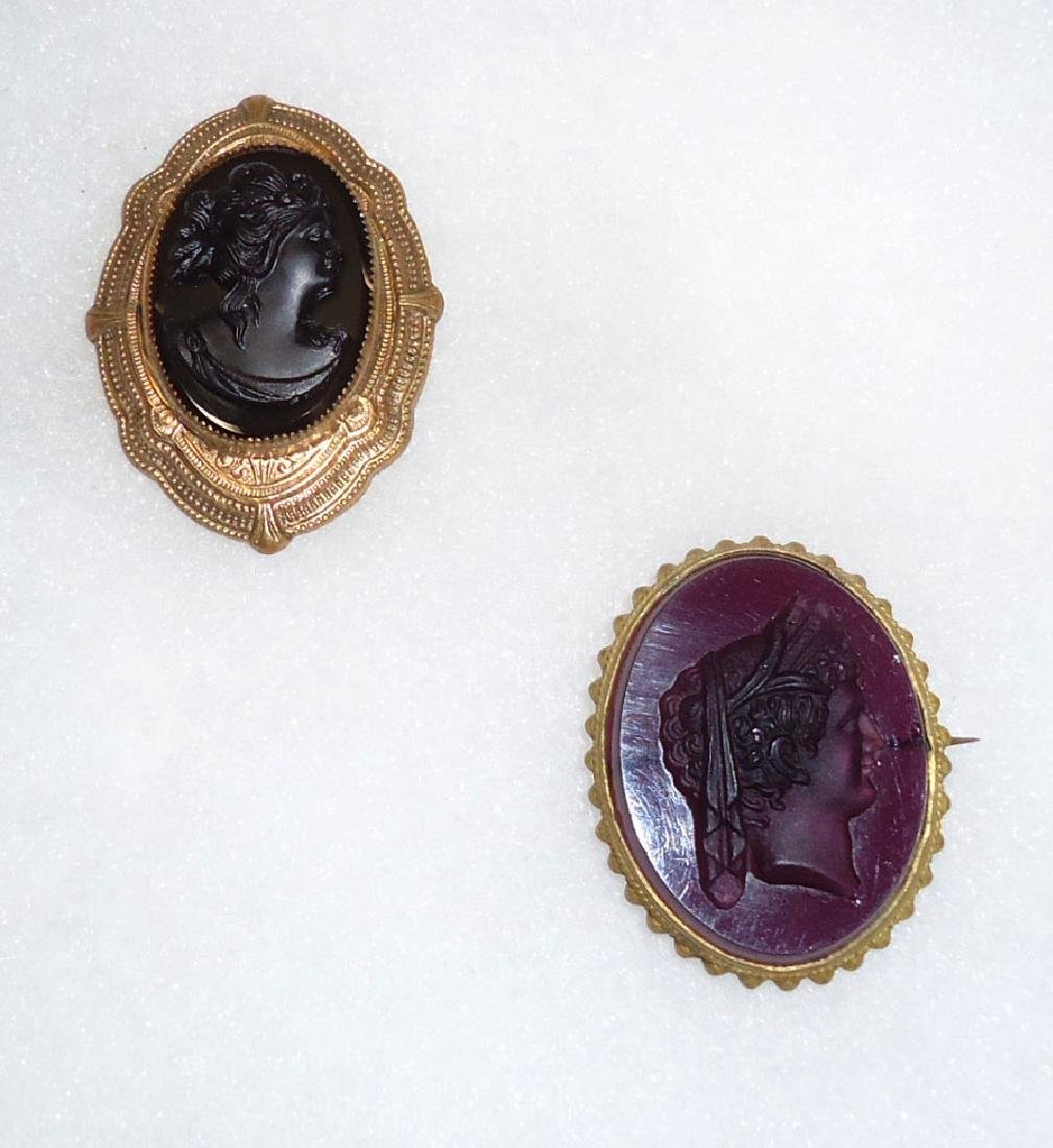 2 Victorian Mourning Brooches