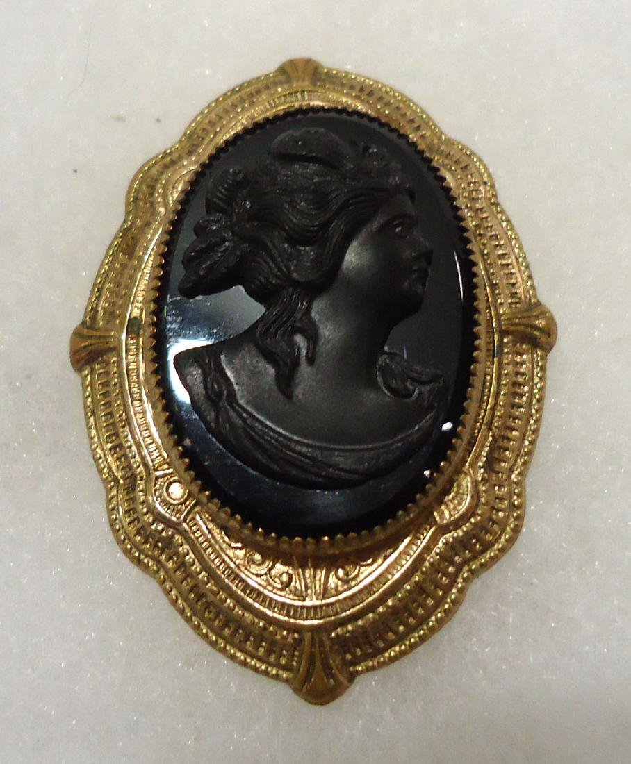 2 Victorian Mourning Brooches - 3
