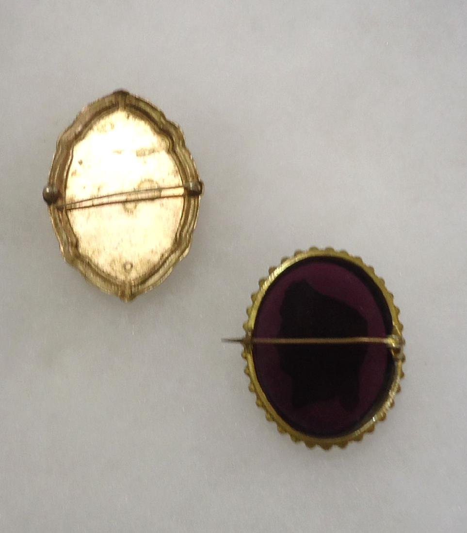 2 Victorian Mourning Brooches - 4