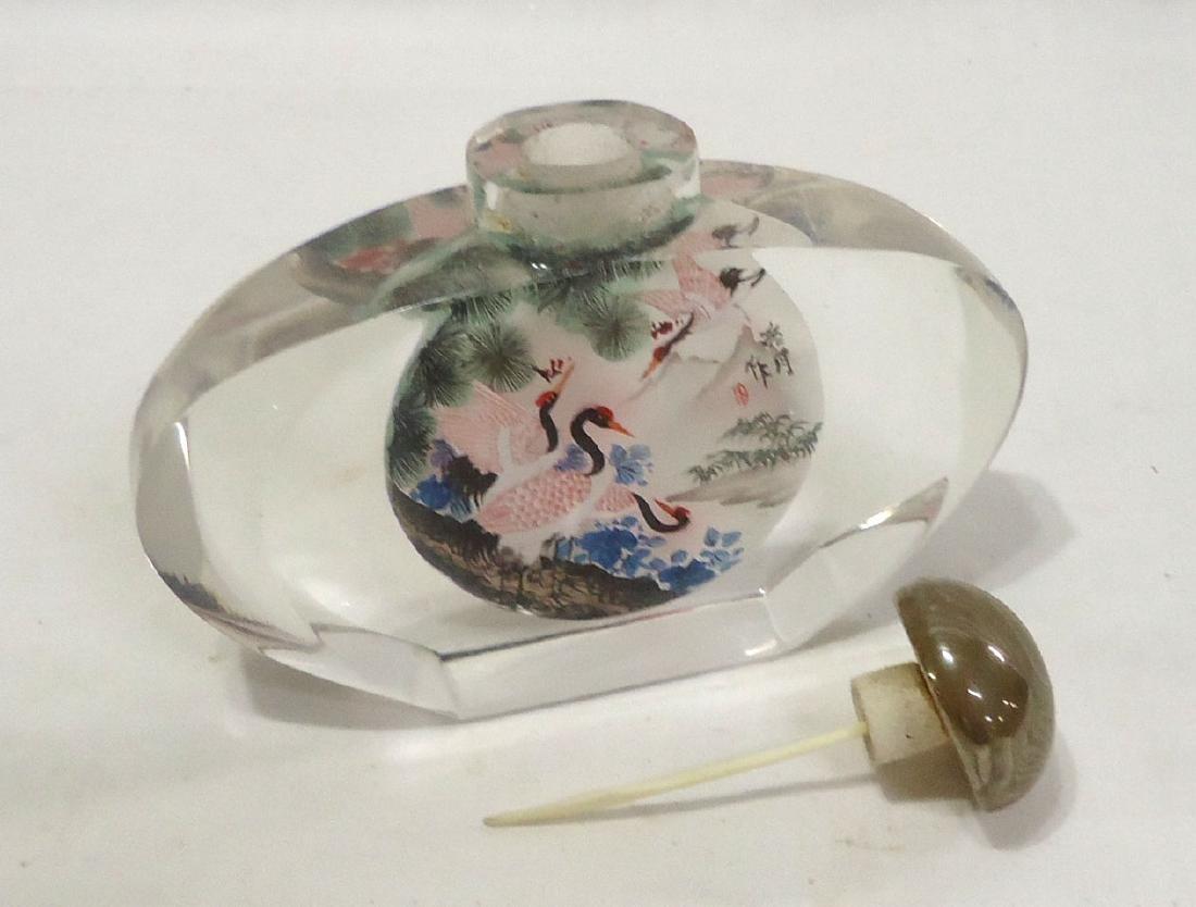 Lg. Oriental Snuff Bottle - 3