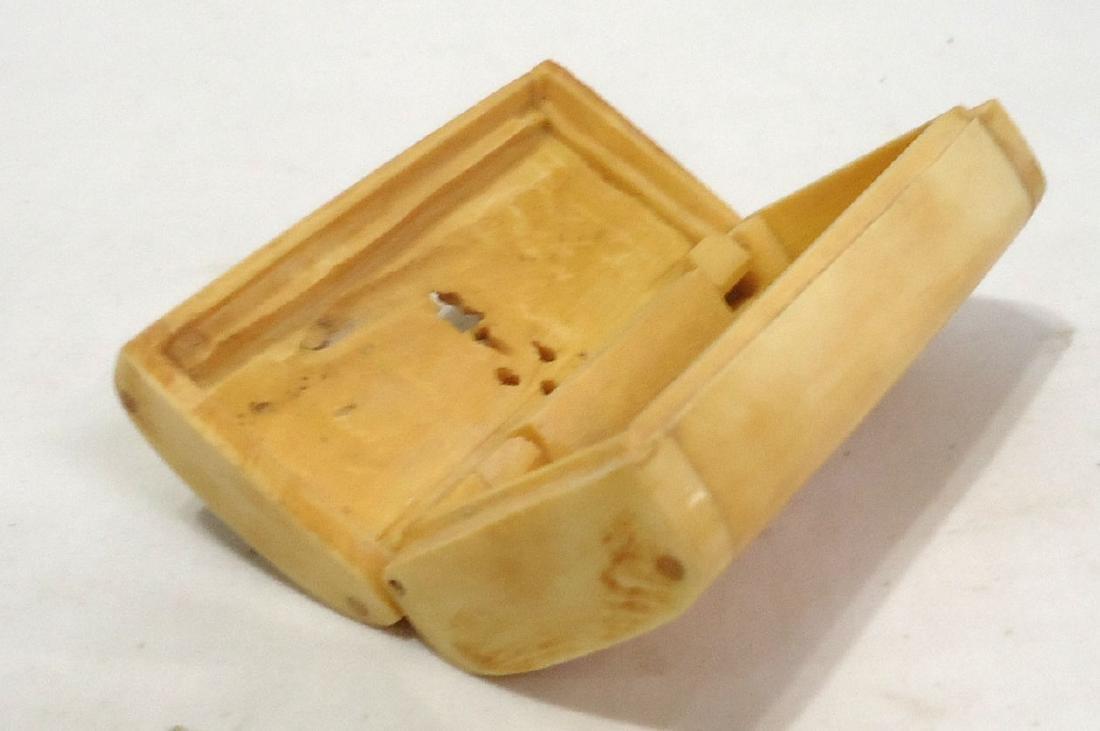 Oriental Carved Bone Box - 2