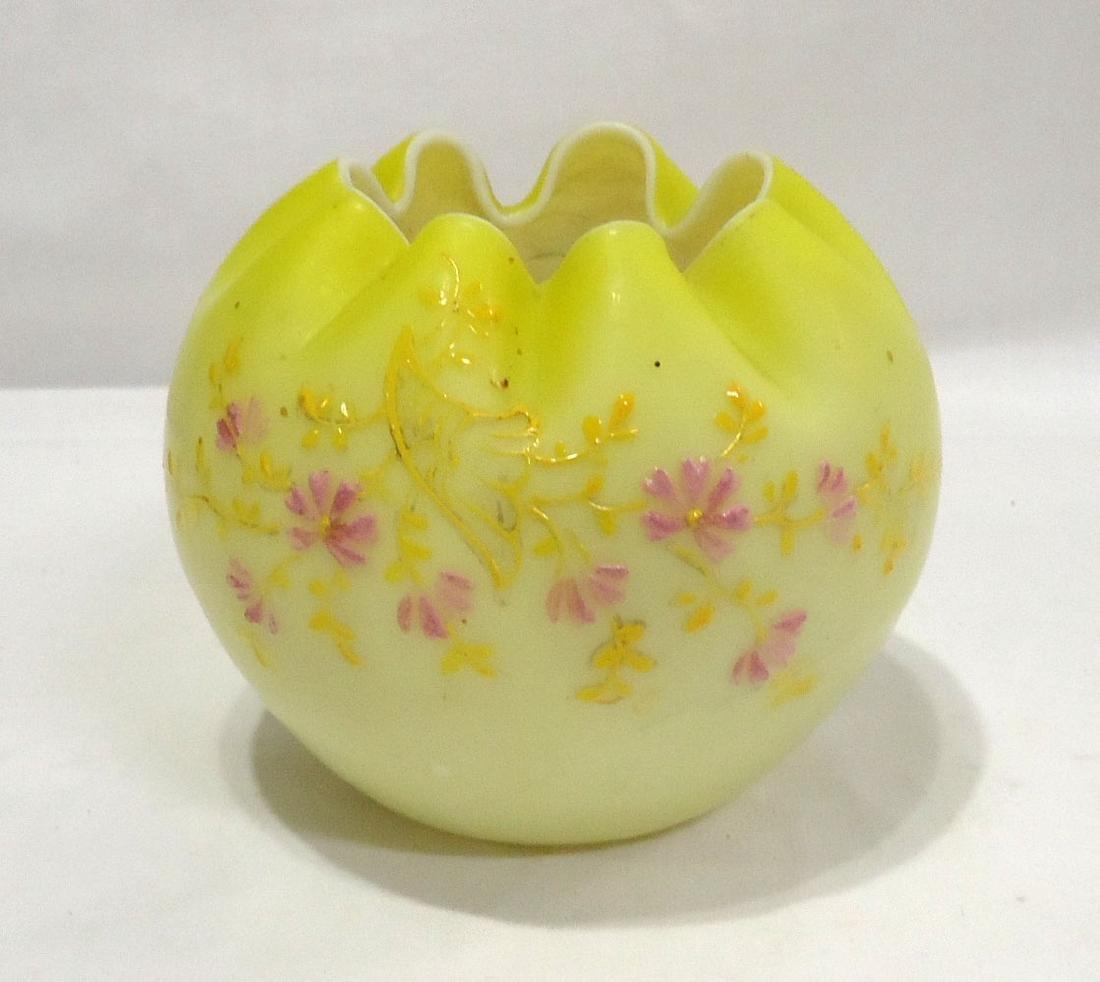 Art Glass Rose Bowl - 3