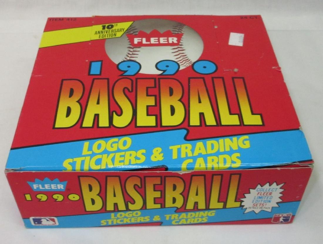 Box of 1990 Fleer Baseball Cards