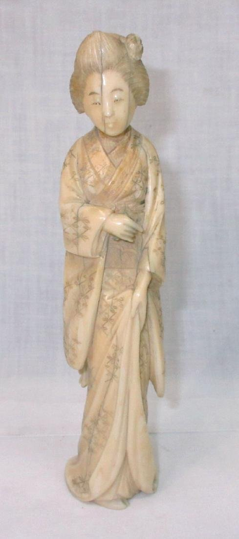 Oriental Carved Bone Figure