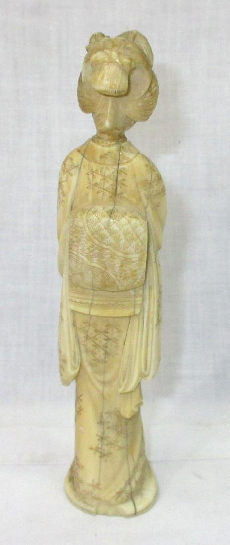 Oriental Carved Bone Figure - 2