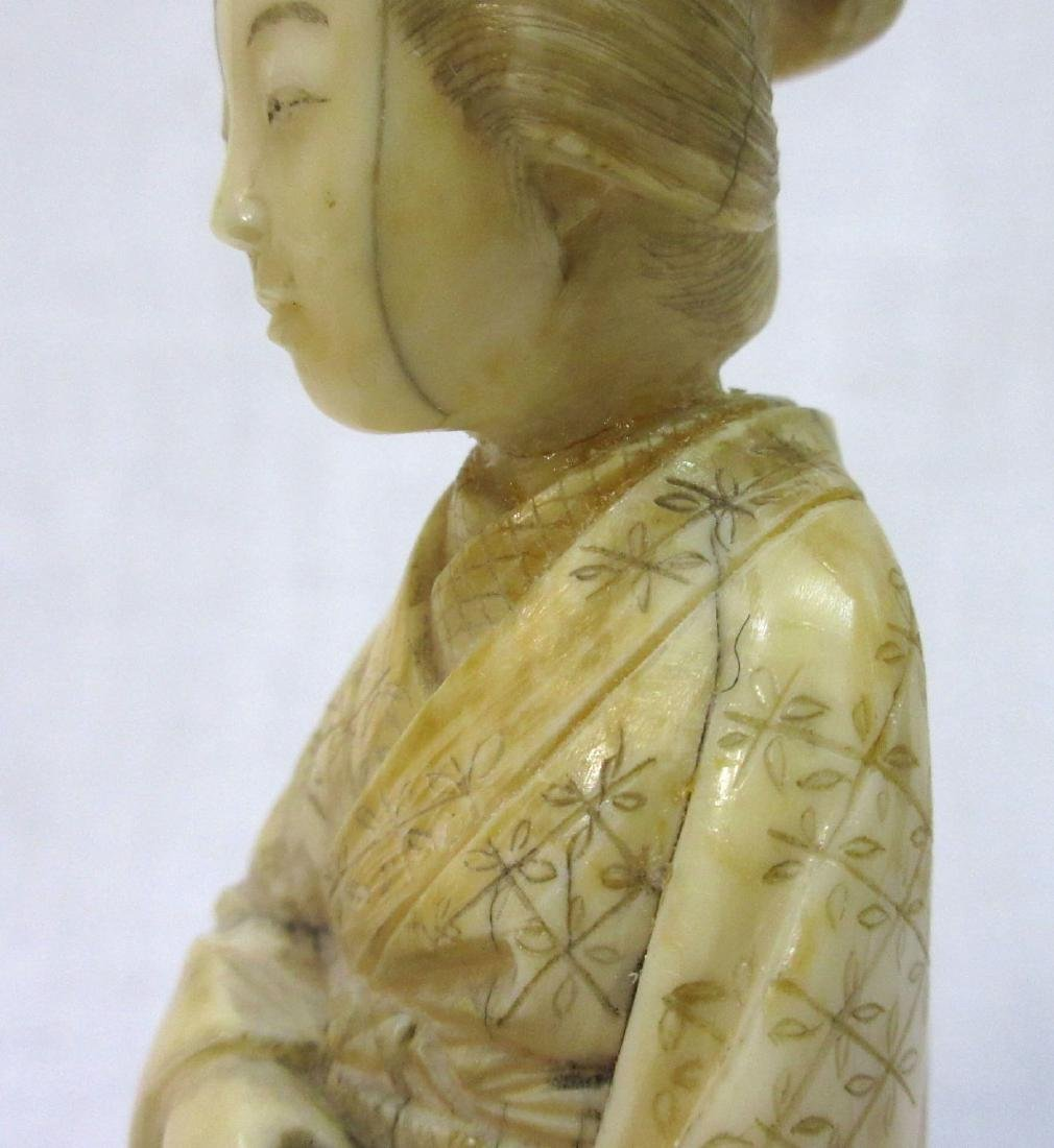 Oriental Carved Bone Figure - 4