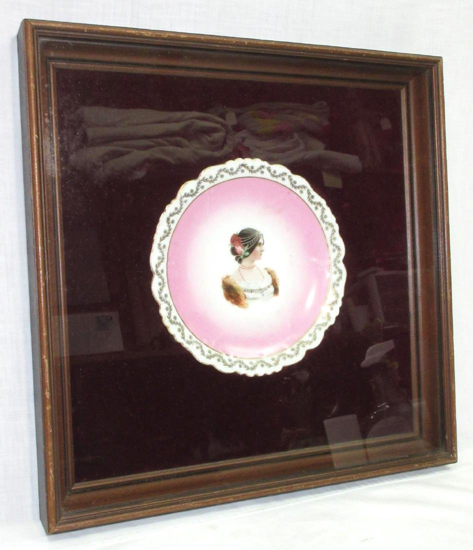 H.P. Portrait Plate in Shadowbox Frame